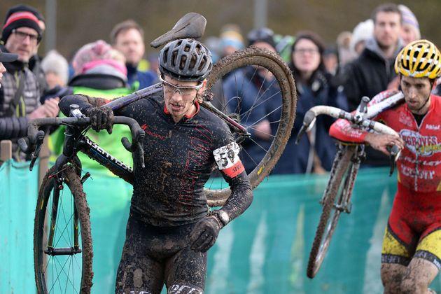 Liam Killeen and Ian Field, British cyclo-cross national championships 2016