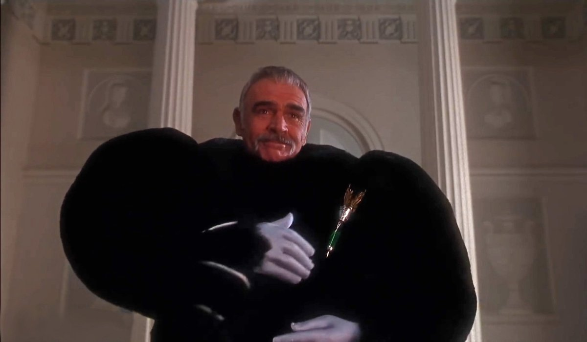 The Avengers Sean Connery in a teddy bear suit