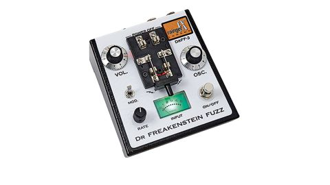 Appropriately, the laboratory-like knife switch controls the Freakenstein Fuzz's power supply