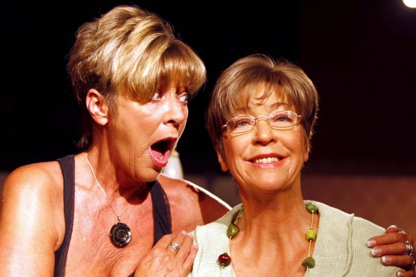 Coronation Street actress Anne Kirkbride with new wax figure of her on screen character Deirdre Barlow at Madame Tussauds in Blackpool (Pete Byrne/PA)
