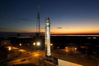 SpaceX's Falcon 9 rocket at Space launch Complex 40 at Cape Canaveral