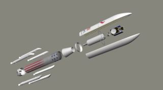 United Launch Alliance's Vulcan Rocket Exploded View