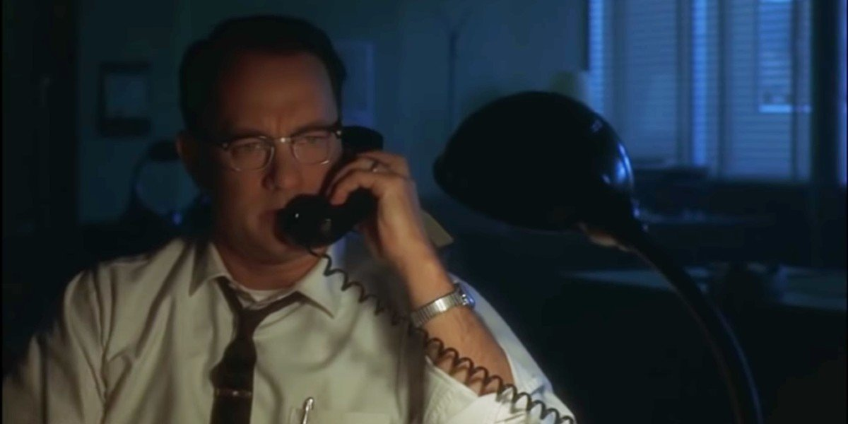 Toms Hanks in Catch Me If You Can
