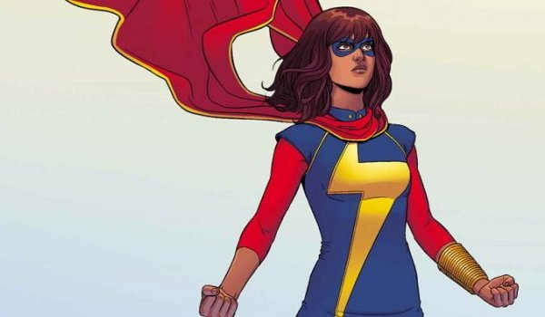 Ms. Marvel Kamala stands defiantly in her costume