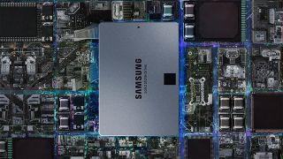 Samsung 860 QVO SSD across cityscape