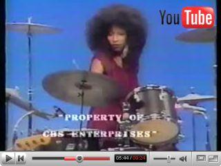 Chaka Khan plays the drums