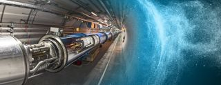 An illustration of the Large Hadron Collider, the world's largest particle accelerator, in Switzerland.