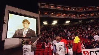 Arsene Wenger Highbury screen