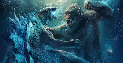 Godzilla and King Kong fight in a new poster for Godzilla vs. Kong.