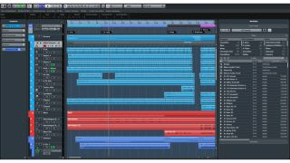 The Cubase Elements 8 project window.