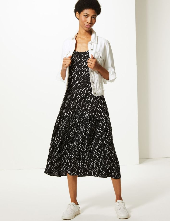 The £22.50 M&S polkadot slip dress that's ideal for warmer weather