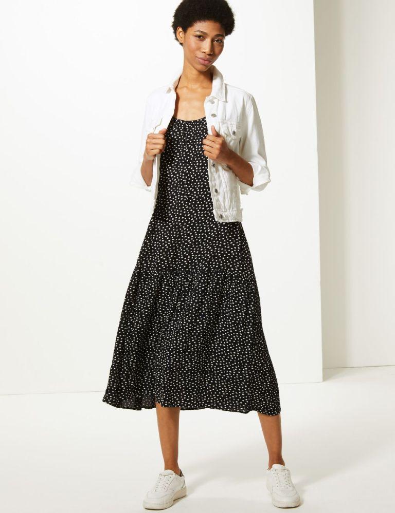 M&S polkadot slip dress