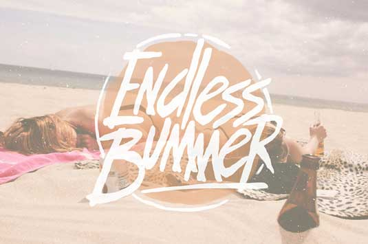Font of the day: Endless Bummer