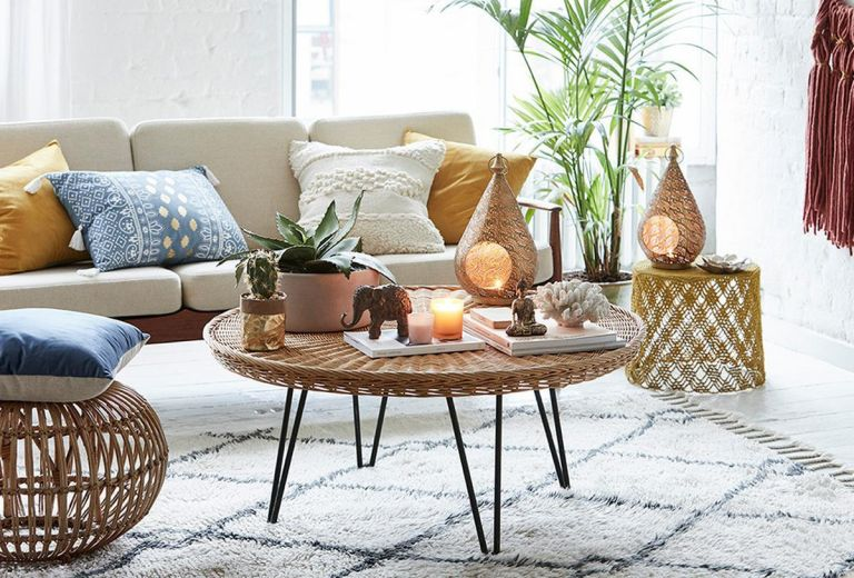 Primark Home lifestyle image of products in living room