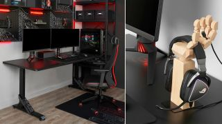 Ikea gaming desk and accessories