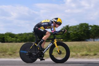 MILAN ITALY MAY 30 Tobias Foss of Norway and Team Jumbo Visma during the 104th Giro dItalia 2021 Stage 21 a 303km Individual Time Trial stage from Senago to Milano ITT UCIworldtour girodiitalia Giro on May 30 2021 in Milan Italy Photo by Tim de WaeleGetty Images