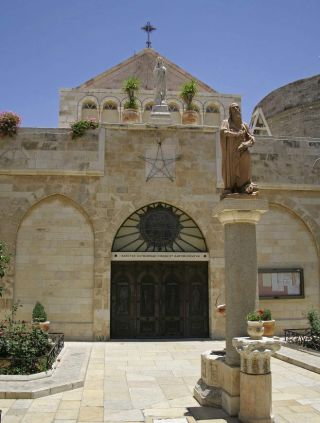 The entrance to the Church of the Nativity in Bethlehem.