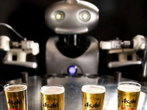 Mr Asahi, the robotic barkeep