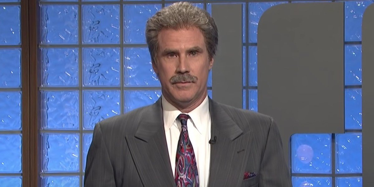 Will Ferell as Alex Trebek on Saturday Night Live (2015)