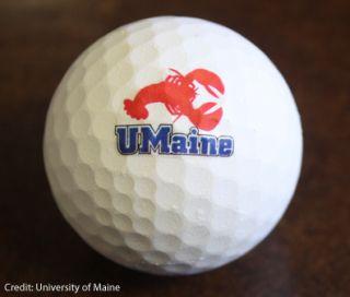 Lobster shell golf ball. Credit: UMaine