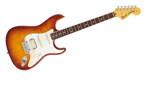 Purists, turn away: this Strat's alder body is topped with a slice of figured maple
