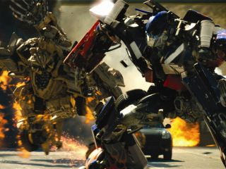 A fairly typical Transformers scene from Michael Bay