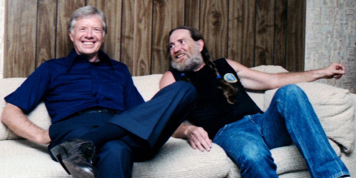 Jimmy Carter and Willie Nelson in Jimmy Carter: Rock and Roll President