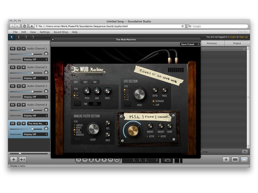 Soundation Studio online DAW gets external MIDI recording