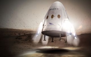 SpaceX's Dragon Landing on Mars 1920