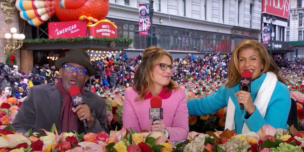 Al Roker, Savannah Guthrie, and Hoda Kotb at the 2019 Macy's Thanksgiving Day Parade