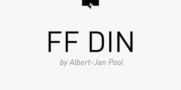 FF Din serif font sample