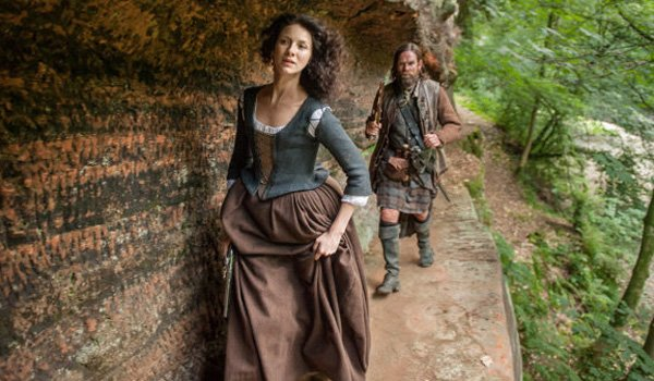outlander claire and murtagh walking