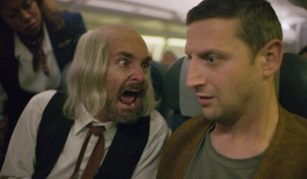 I Think You Should Leave Will Forte screams at Tim Robinson on an airplane