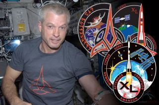 Swanson's Klingon Artwork for Expedition 40 Crew Patch