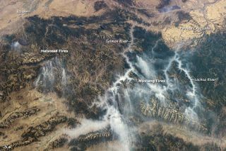 An Expedition 32 astronaut snapped this photographed of wildfire smoke over Idaho from the International Space Station on Sept. 3, 2012.