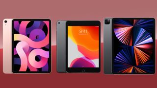 A selection of the best iPads including the iPad Air 4, iPad Mini 2019 and the iPad Pro (2021)