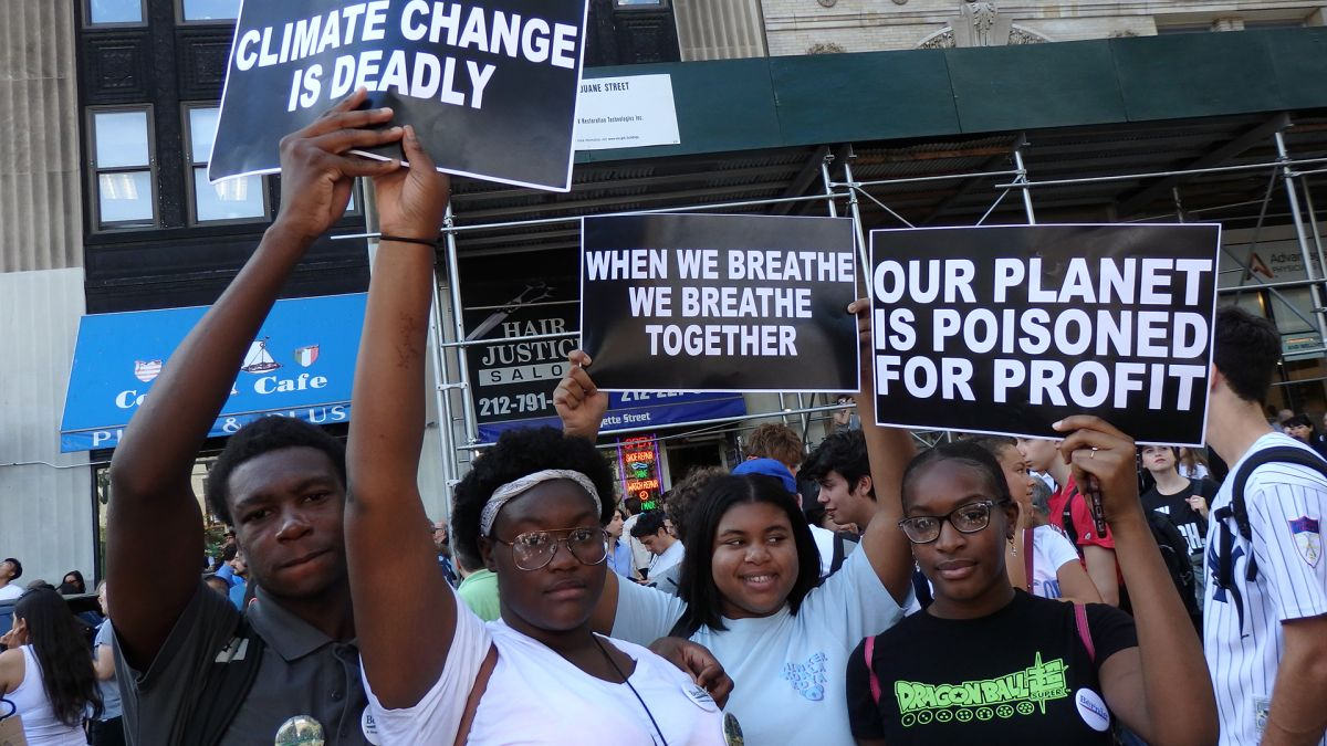To Save the Planet From Climate Change, Students Take to the Streets