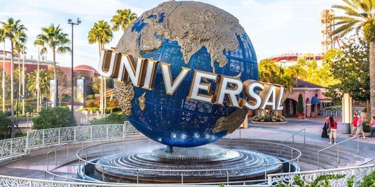 Universal globe fountain at Universal Studios Orlando, Florida