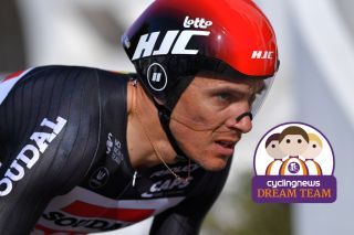 Lotto Soudal's Philippe Gilbert is the picture of concentration on the stage 5 time trial at the 2020 Volta ao Algarve