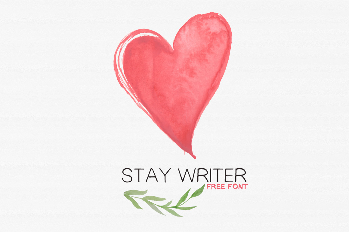 Free handwriting fonts: Stay Writer