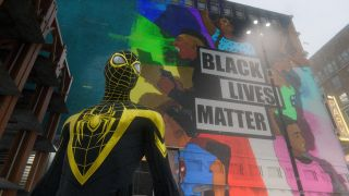 Spider-Man: Miles Morales BLM mural