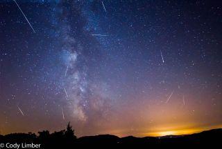2013 Perseid Meteors Over Orcas Island, WA