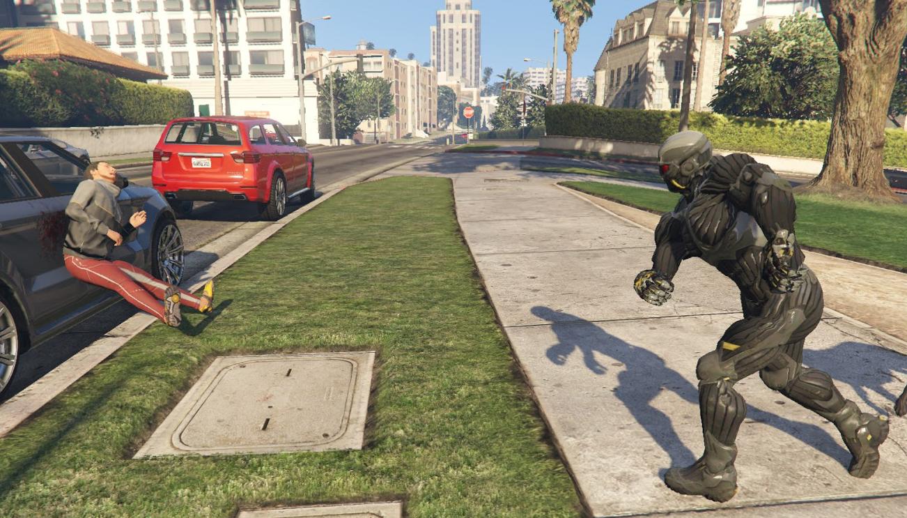 Modder JulioNIB delivers Crysis nanosuit powers to GTA 5   PC Gamer
