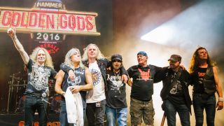 Saxon and Motorhead onstage together