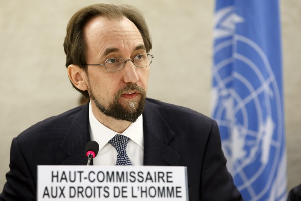 UN High Commissioner for Human Rights Zeid Ra'ad al Hussein (Salvatore Di Nolfi/AP)