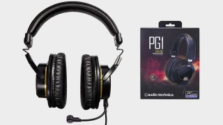 Photo of Audio-Technica ATH-PG1 headset with product box