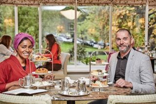 Remarkable Places to Eat Season 3 - Nadiya Hussain, Fred Sirieix at Betty's Tea Room.