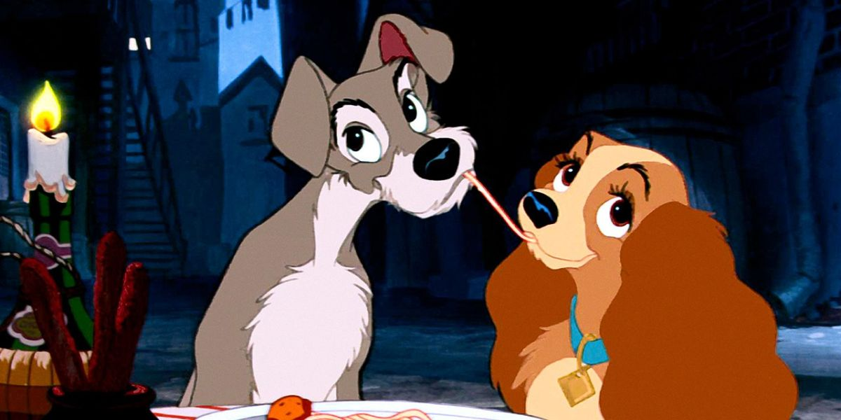 Animated Lady and the tramp