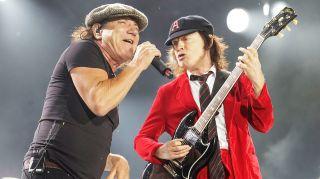 Brian Johnson and Angus Young