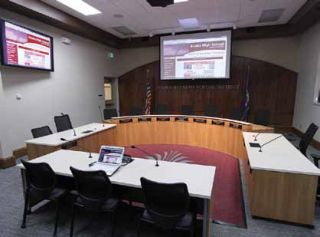 Renovation Adds Complexity to School Board Meeting Room